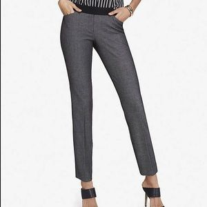 Express NWT editor ankle pants black & gray